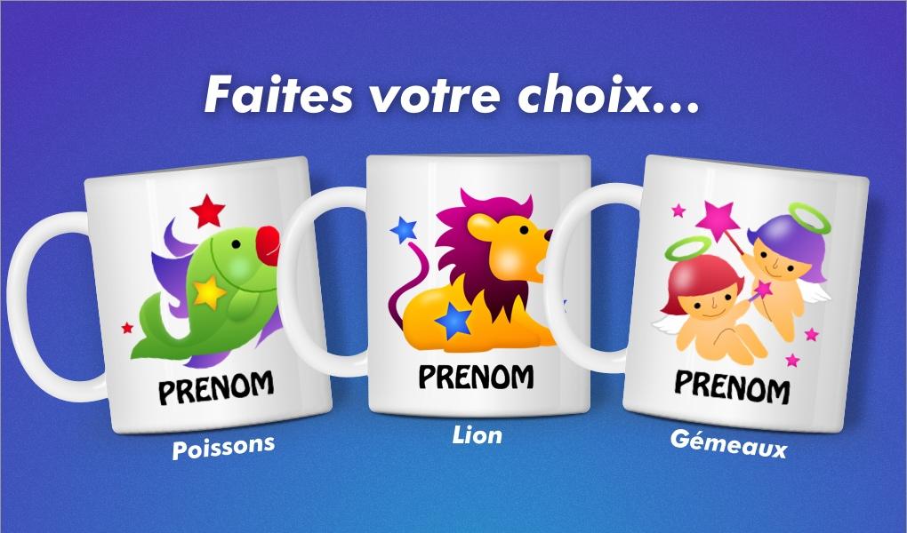 Populaire Baby Noa - Mugs personnalisables - Mug Astro avec prénom personnalisé PM39