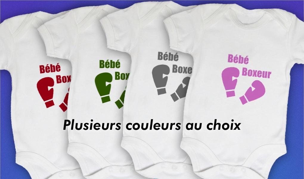 Baby Noa - Bodies Bébé Personnalisables - Body Bébé Boxeur Personnalisé 5623ee6589d