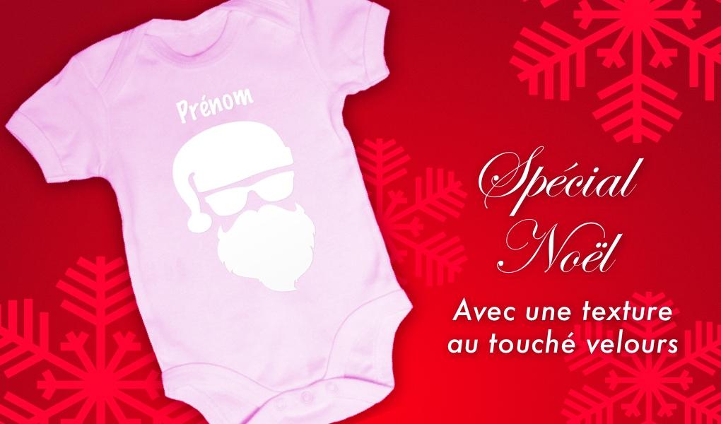 0b869900fdf6f Baby Noa - Spécial Noël - Body bébé Noël - Père Noël pour fille